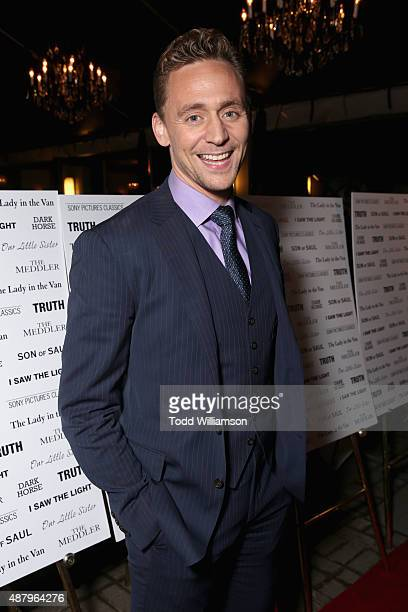 Actor Tom Hiddleston attends the SPC Toronto Party during the 2015 Toronto International Film Festival at Creme Brasserie on September 12, 2015 in...