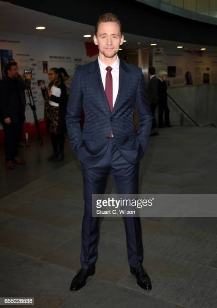Actor Tom Hiddleston attends the THREE Empire awards at The Roundhouse on March 19 2017 in London England
