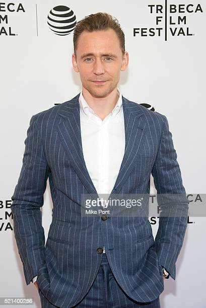 Actor Tom Hiddleston attends the Tribeca Tune In The Night Manager during the 2016 Tribeca Film Festival at SVA Theatre on April 15 2016 in New York...