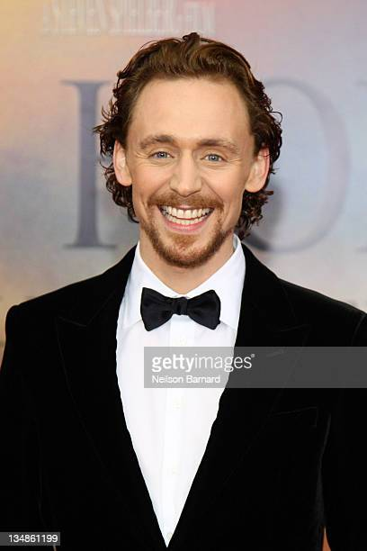 Actor Tom Hiddleston attends the War Horse world premiere at Avery Fisher Hall at Lincoln Center for the Performing Arts on December 4 2011 in New...