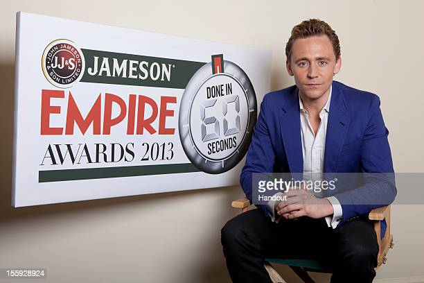 Actor Tom Hiddleston poses as he is announced as ambassador for the 2013 Jameson Empire 'Done in 60 Seconds' short film competition on November 9...