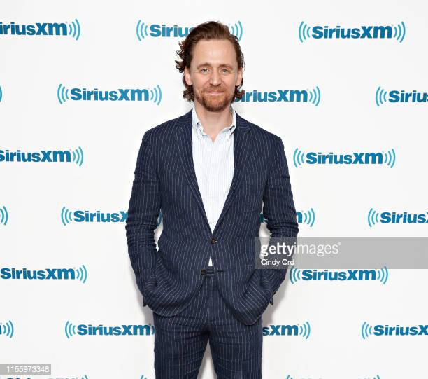 Actor Tom Hiddleston visits the SiriusXM Studios on July 16, 2019 in New York City.