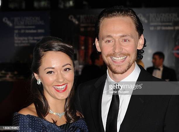 Actor Tom Hiddleston with wife Susannah Fielding attends the Closing Gala premiere of Deep Blue Sea at The 55th BFI London Film Festival at Odeon...