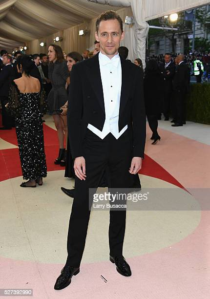 Actor Tom Hiddlestonattends the 'Manus x Machina Fashion In An Age Of Technology' Costume Institute Gala at Metropolitan Museum of Art on May 2 2016...