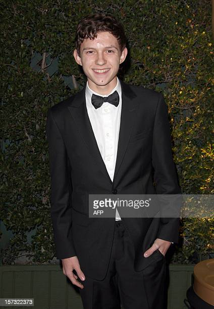 Actor Tom Holland arrives at the 2012 Governors Awards at the Ray Dolby Ballroom at Hollywood Highland Center in Hollywood California on December 1...