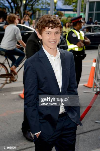 """Actor Tom Holland arrives at """"The Impossible"""" Premiere at the 2012 Toronto International Film Festival at the Princess of Wales Theatre on September..."""