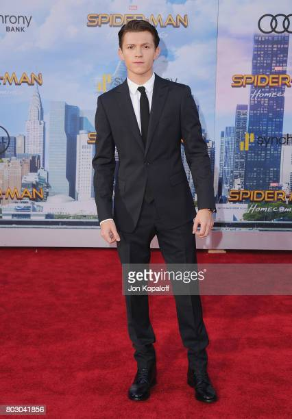 Actor Tom Holland arrives at the Los Angeles Premiere 'SpiderMan Homecoming' at TCL Chinese Theatre on June 28 2017 in Hollywood California