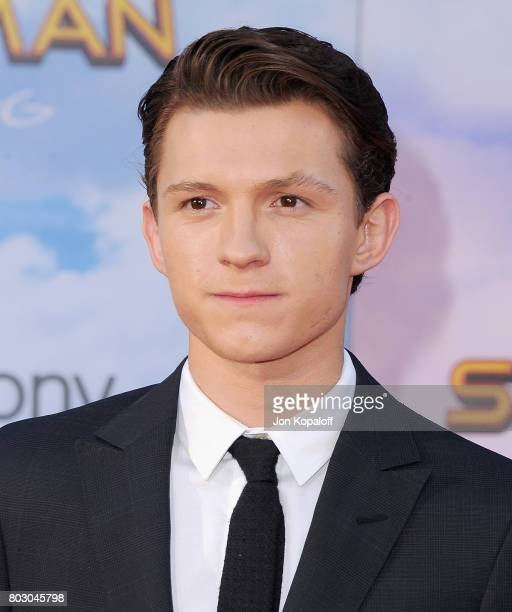Actor Tom Holland arrives at the Los Angeles Premiere SpiderMan Homecoming at TCL Chinese Theatre on June 28 2017 in Hollywood California