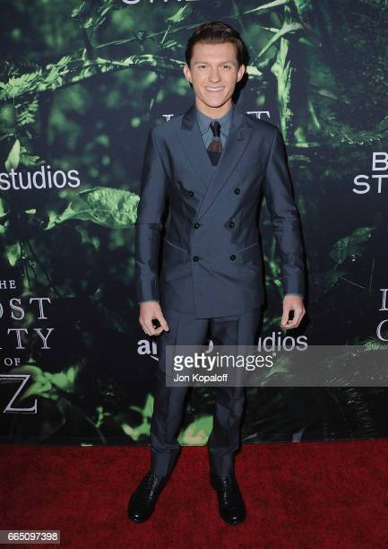 Actor Tom Holland arrives at the Premiere Of Amazon Studios' 'The Lost City Of Z' at ArcLight Hollywood on April 5 2017 in Hollywood California