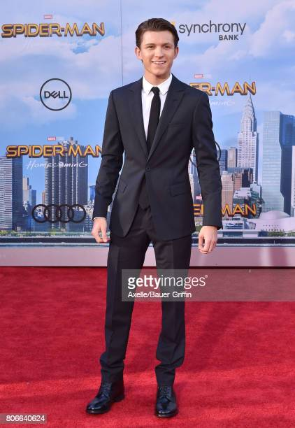 Actor Tom Holland arrives at the premiere of Columbia Pictures' 'SpiderMan Homecoming' at TCL Chinese Theatre on June 28 2017 in Hollywood California