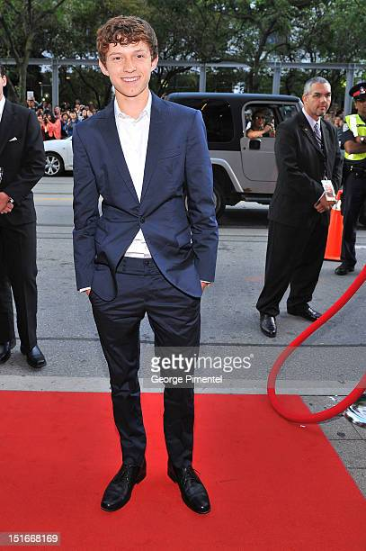 """Actor Tom Holland arrives at the """"The Impossible"""" Premiere at the 2012 Toronto International Film Festival at the Princess of Wales Theatre on..."""