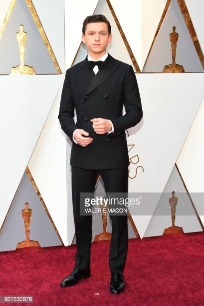 Actor Tom Holland arrives for the 90th Annual Academy Awards on March 4 in Hollywood California / AFP PHOTO / VALERIE MACON