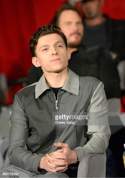 Actor Tom Holland at the Avengers: Infinity War Press Junket in Los Angeles, CA April 22nd, 2018