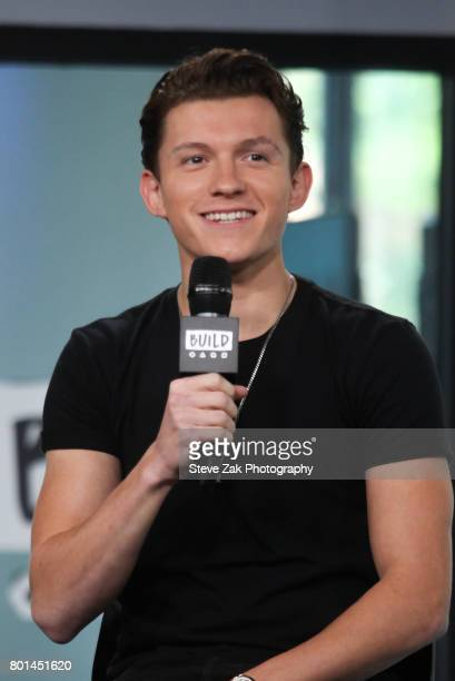 Actor Tom Holland attends Build Series to discuss his new movie SpiderMan Homecoming at Build Studio on June 26 2017 in New York City