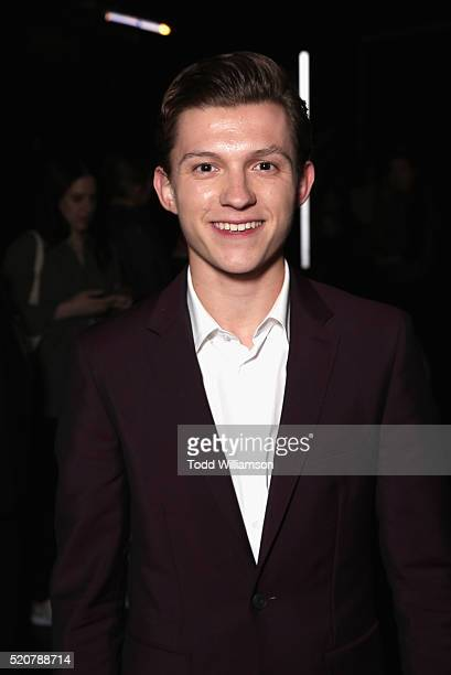 Actor Tom Holland attends CinemaCon 2016 An Evening with Sony Pictures Entertainment Celebrating the Summer of 2016 and Beyond at The Colosseum at...