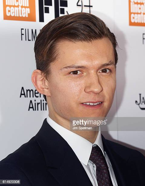 Actor Tom Holland attends the 54th New York Film Festival closing night screening of The Lost City Of Z at Alice Tully Hall Lincoln Center on October...