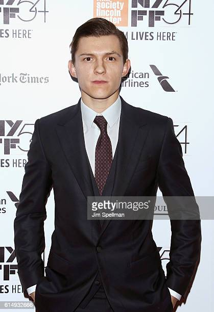 """Actor Tom Holland attends the 54th New York Film Festival closing night screening of """"The Lost City Of Z"""" at Alice Tully Hall, Lincoln Center on..."""