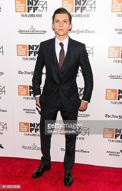 Actor Tom Holland attends the closing night screening of 'The Lost City Of Z' for the 54th New York Film Festival at Alice Tully Hall, Lincoln Center...