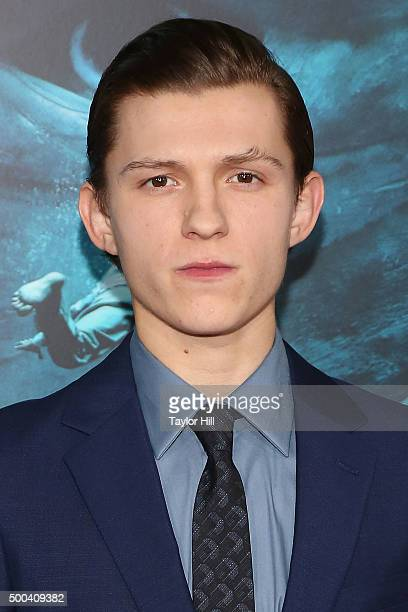 Actor Tom Holland attends the In the Heart of the Sea premiere at Frederick P Rose Hall Jazz at Lincoln Center on December 7 2015 in New York City