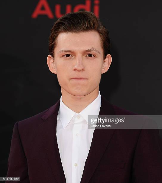 Actor Tom Holland attends the premiere of Captain America Civil War at Dolby Theatre on April 12 2016 in Hollywood California