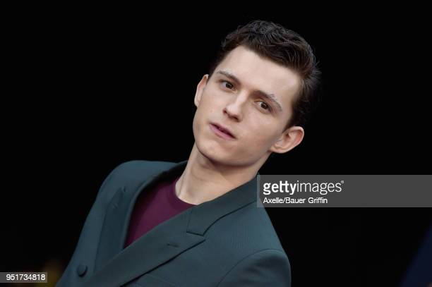Actor Tom Holland attends the premiere of Disney and Marvel's 'Avengers Infinity War' on April 23 2018 in Hollywood California