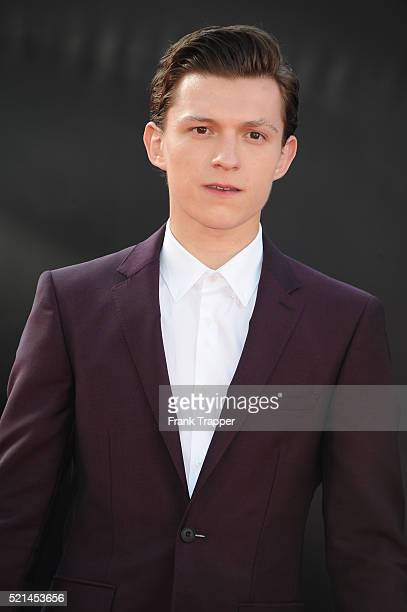 Actor Tom Holland attends the premiere of Marvel's 'Captain America Civil War' at Dolby Theater on April 12 2016 in Hollywood California