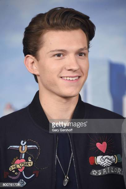 Actor Tom Holland attends the Spiderman Homecoming New York photo call at the Whitby Hotel on June 25 2017 in New York City