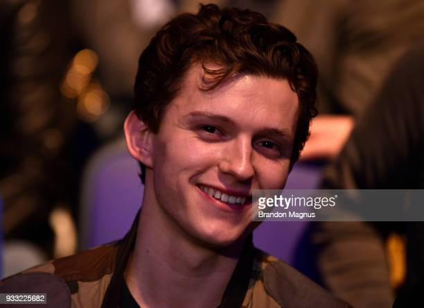 Actor Tom Holland attends the UFC Fight Night event inside The O2 Arena on March 17 2018 in London England