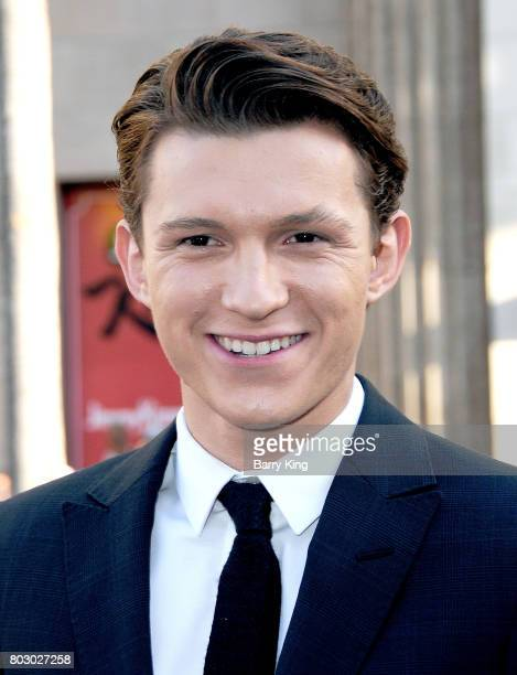 Actor Tom Holland attends the World Premiere of Columbia Pictures' 'SpiderMan Homecoming' at TCL Chinese Theatre on June 28 2017 in Hollywood...