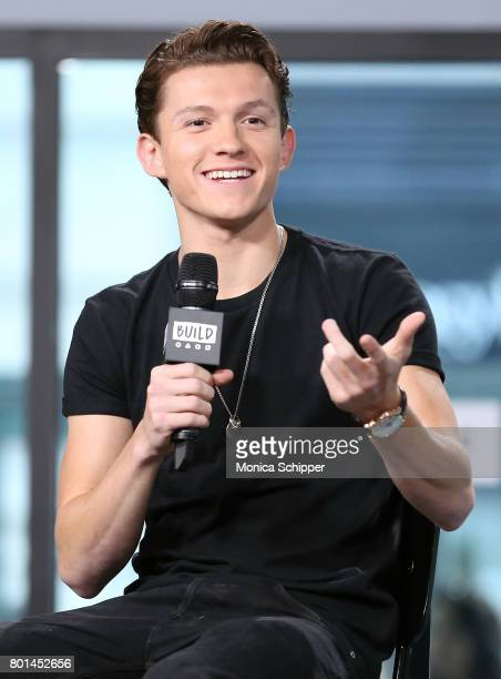 Actor Tom Holland discusses 'SpiderMan Homecoming' at Build Studio on June 26 2017 in New York City