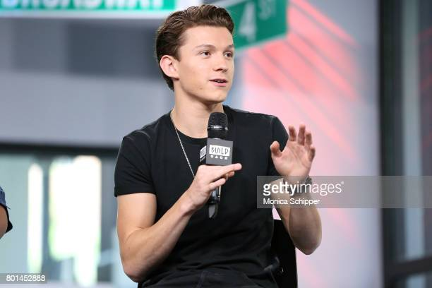 Actor Tom Holland discusses SpiderMan Homecoming at Build Studio on June 26 2017 in New York City