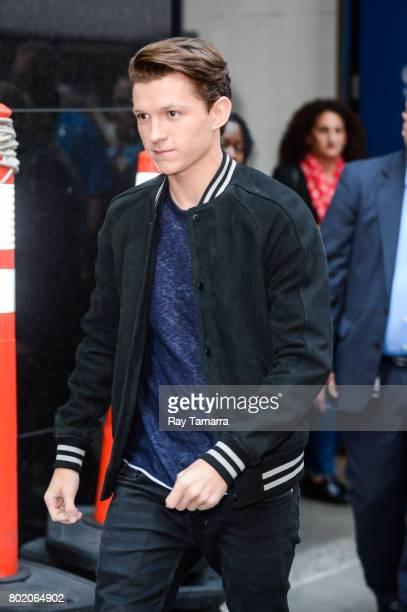 Actor Tom Holland leaves the Good Morning America taping at the ABC Times Square Studios on June 27 2017 in New York City