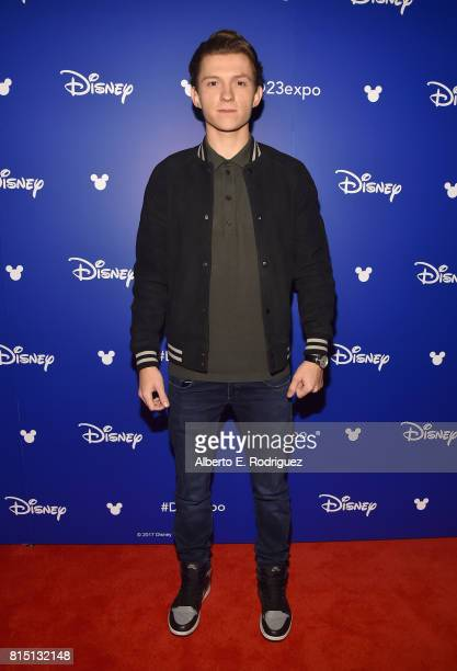 Actor Tom Holland of AVENGERS INFINITY WAR took part today in the Walt Disney Studios live action presentation at Disney's D23 EXPO 2017 in Anaheim...