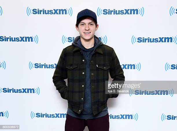 Actor Tom Holland visits the SiriusXM Studios on December 7 2015 in New York City