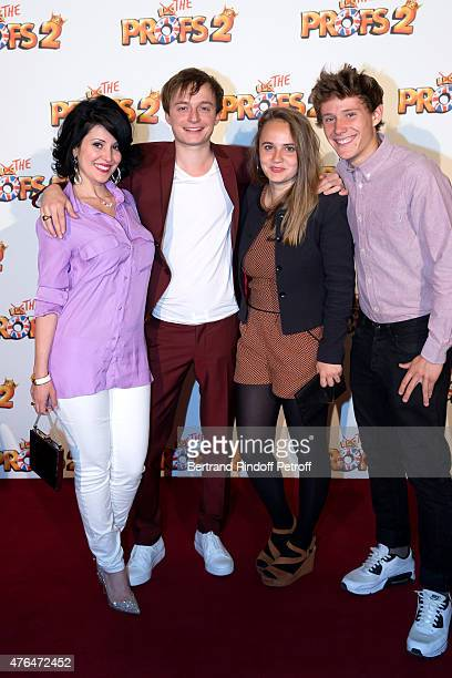 Actor Tom Hudson standing etween Students of the movie attend 'Les Profs 2' : Paris Premiere at Le Grand Rex on June 9, 2015 in Paris, France.