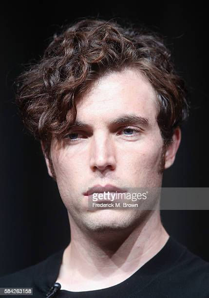 Actor Tom Hughes speaks onstage during the 'Masterpiece 'Victoria' panel discussion at the PBS portion of the 2016 Television Critics Association...
