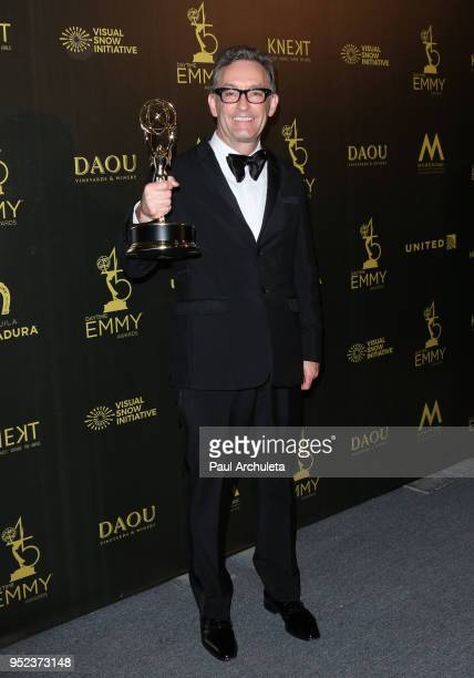 Actor Tom Kenny attends the press room at the 45th Annual Daytime Creative Arts Emmy Awards at the Pasadena Civic Auditorium on April 27 2018 in...