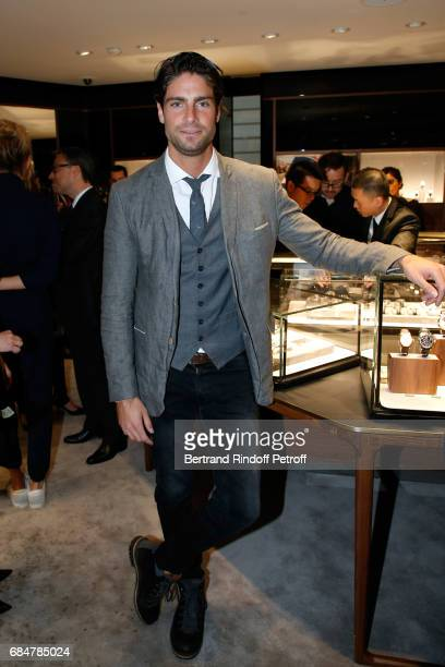Actor Tom Leeb attends the Montblanc ChampsElysees Flagship Reopening on May 18 2017 in Paris France