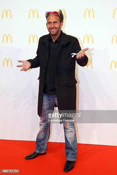 Actor Tom Lehel poses during the new McDonald's Flagship Restaurant reopening at Frankfurt International Airport Terminal 2 on March 30 2015 in...