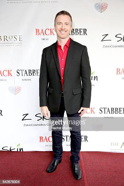 Actor Tom Mclaren attends the red carpet premiere for the new Amazon series 'Back Stabber' at the Ambrose Boutique Hotel on June 23 2016 in Santa...