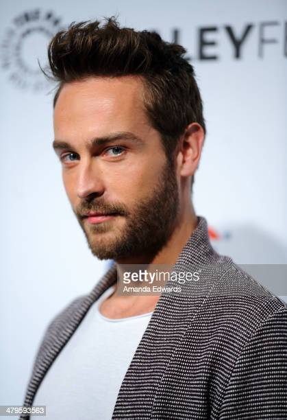 Actor Tom Mison arrives at the 2014 PaleyFest 'Sleepy Hollow' event at The Dolby Theatre on March 19 2014 in Hollywood California