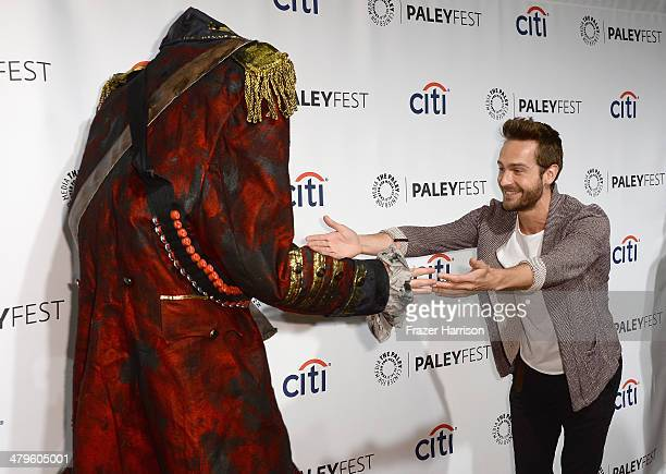 Actor Tom Mison arrives at The Paley Center for Media's PaleyFest 2014 Honoring 'Sleepy Hollow' at Dolby Theatre on March 19 2014 in Hollywood...