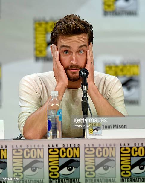 Actor Tom Mison attends the Entertainment Weekly Brave New Warriors panel during ComicCon International 2014 at the San Diego Convention Center on...
