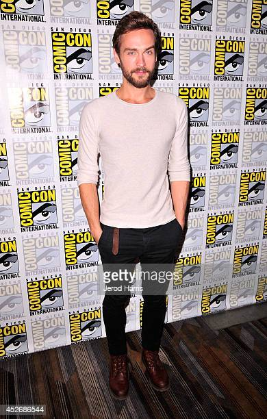 Actor Tom Mison attends the 'Sleepy Hollow' Press Line during ComicCon International 2014 at Hilton Bayfront on July 25 2014 in San Diego California