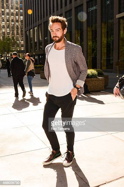 Actor Tom Mison leaves the Sirius XM Studios on September 23 2014 in New York City