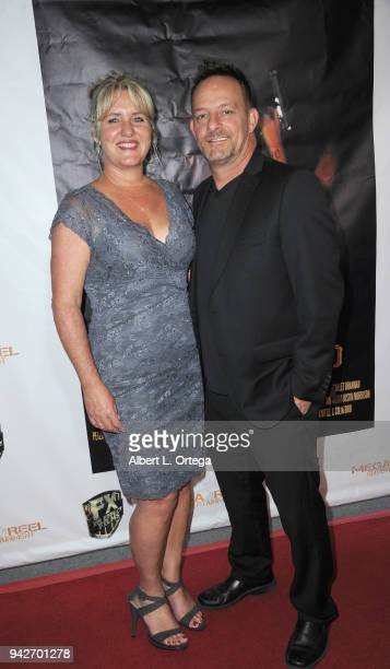 Actor Tom O'Reilly and wife Julie arrive for the Los Angeles Premiere of 'Miles To Go' held at Writers Guild Theater on April 5 2018 in Beverly Hills...