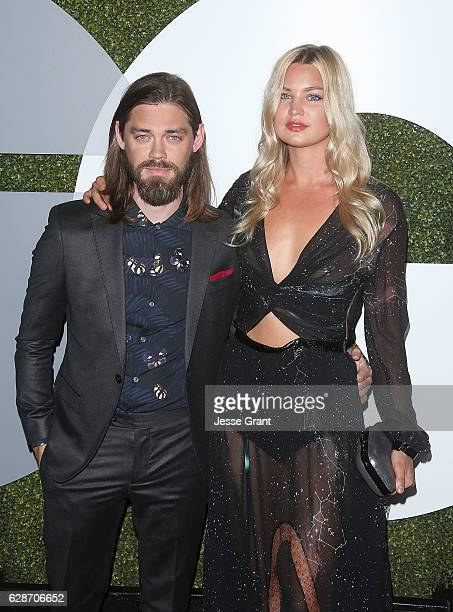 Actor Tom Payne and model Jennifer Akerman attend the 2016 GQ Men of the Year Party at Chateau Marmont on December 8 2016 in Los Angeles California