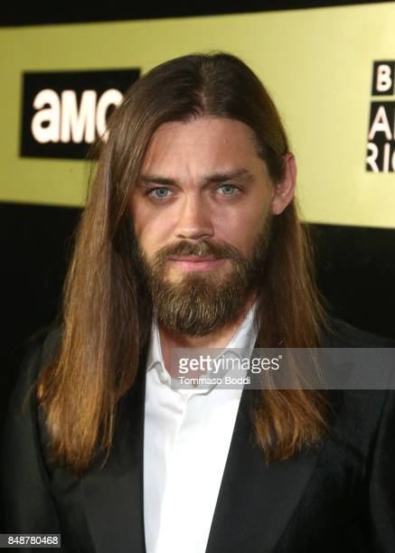 Actor Tom Payne at AMC BBCA and IFC Emmy party at BOA Steakhouse on September 17 2017 in West Hollywood California