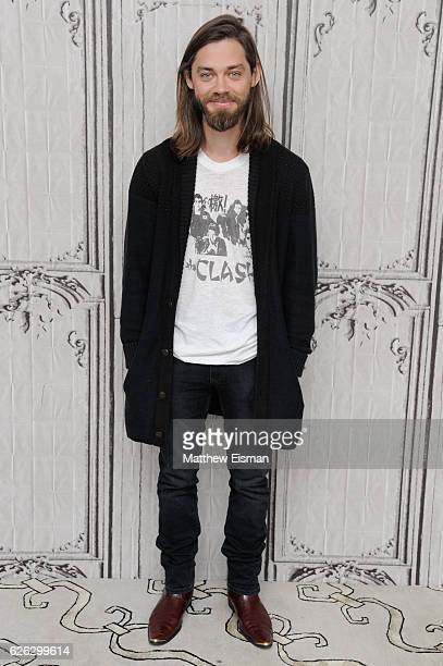 Actor Tom Payne attends Build Series presents Tom Payne discussing The Walking Dead at AOL HQ on November 28 2016 in New York City
