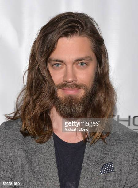 Actor Tom Payne attends Fathom Events and Terra Mater Film Studios' Mindgamers One Thousand Minds Connected Live premiere event at Regal LA Live...